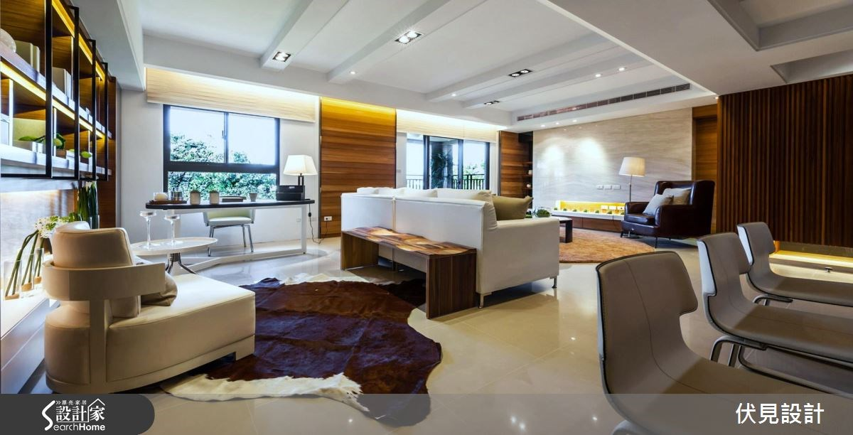 43坪新成屋(5年以下)_現代風書房案例圖片_伏見設計事業有限公司_伏見_10之3