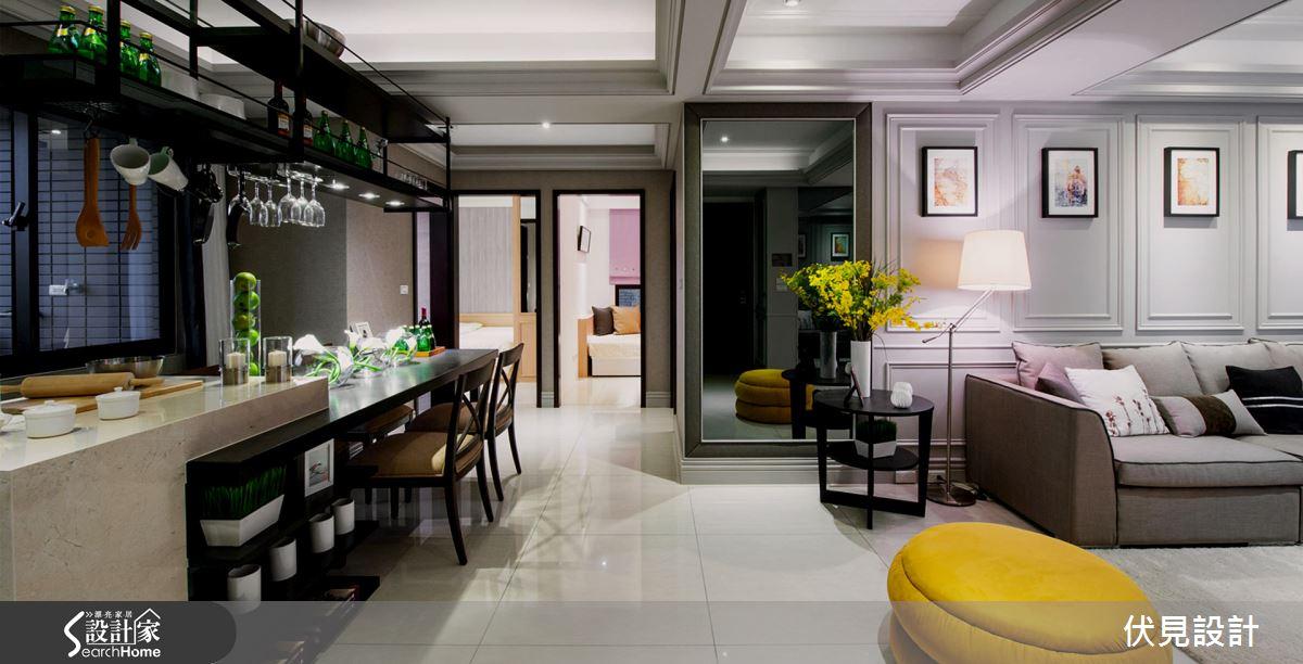 心目中的美式經典風格 讓溫潤系中島廚房為你達成!