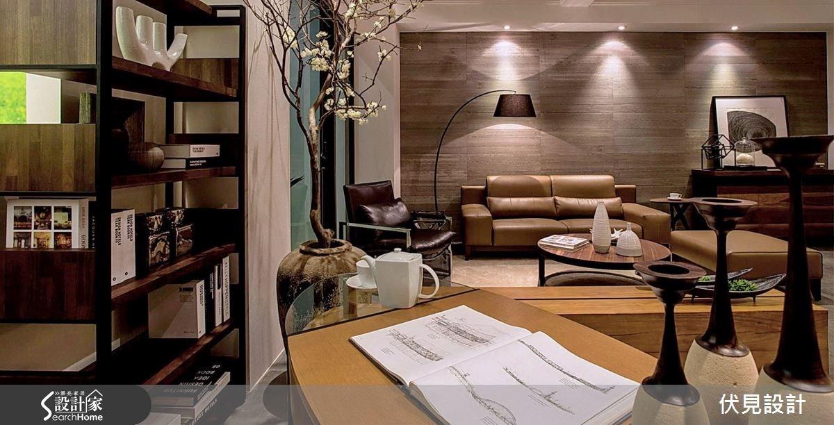 30坪_新中式風客廳書房案例圖片_伏見設計事業有限公司_伏見_23之3