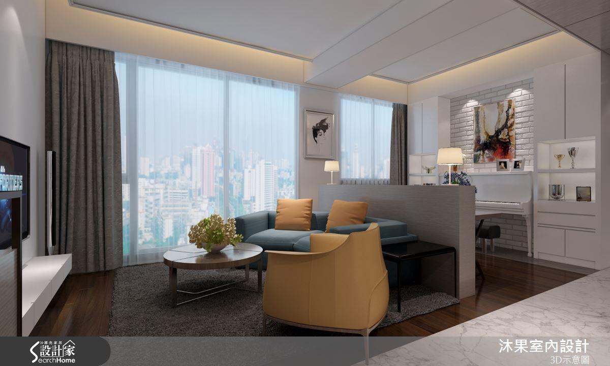 40坪新成屋(5年以下)_現代風客廳案例圖片_沐果室內設計有限公司_沐果_07之1