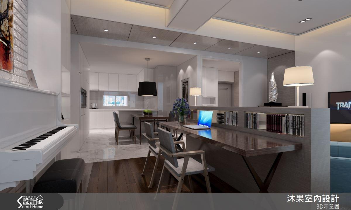 40坪新成屋(5年以下)_現代風餐廳廚房案例圖片_沐果室內設計有限公司_沐果_07之3