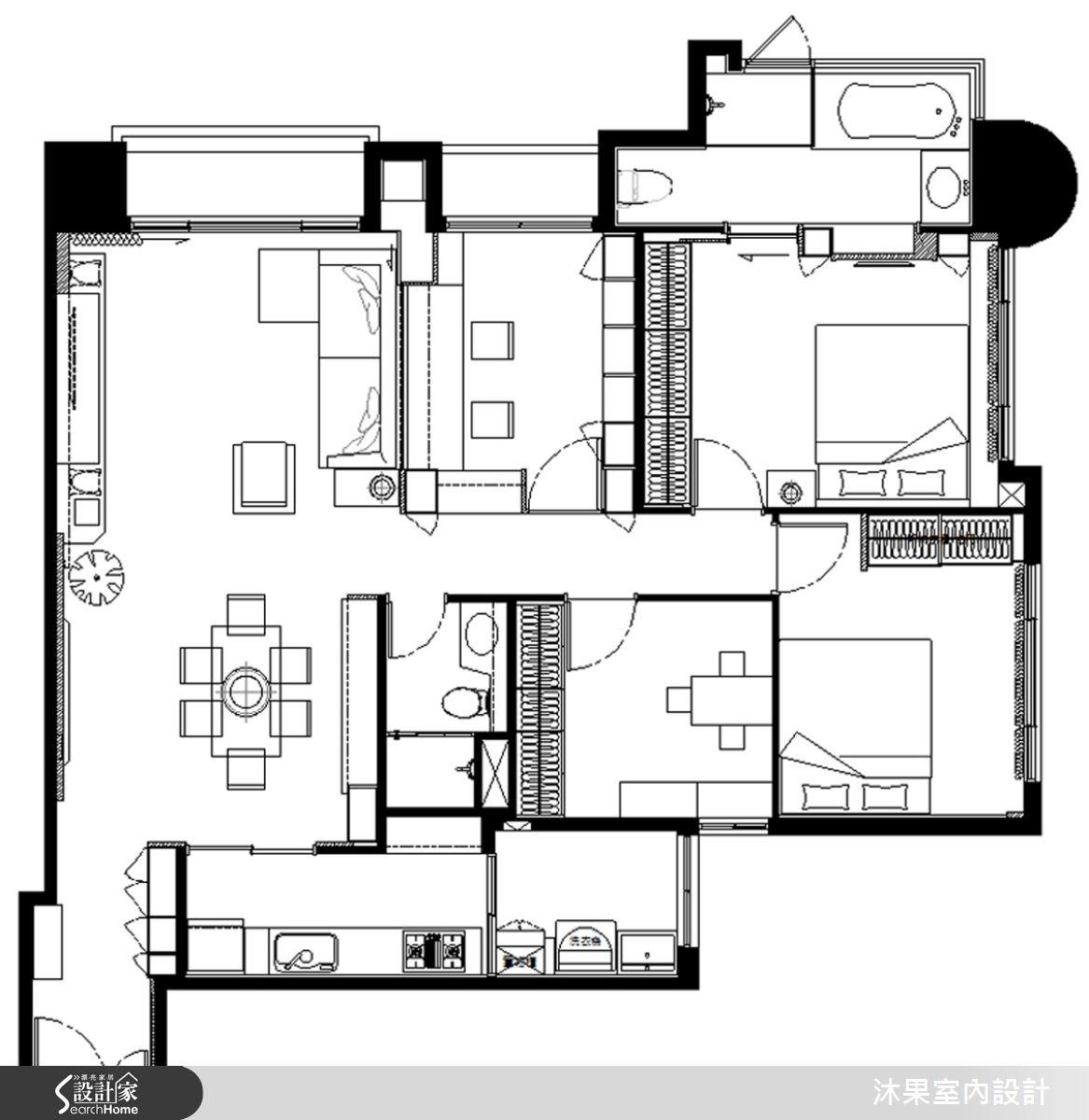 45坪新成屋(5年以下)_現代風案例圖片_沐果室內設計有限公司_沐果_08之13