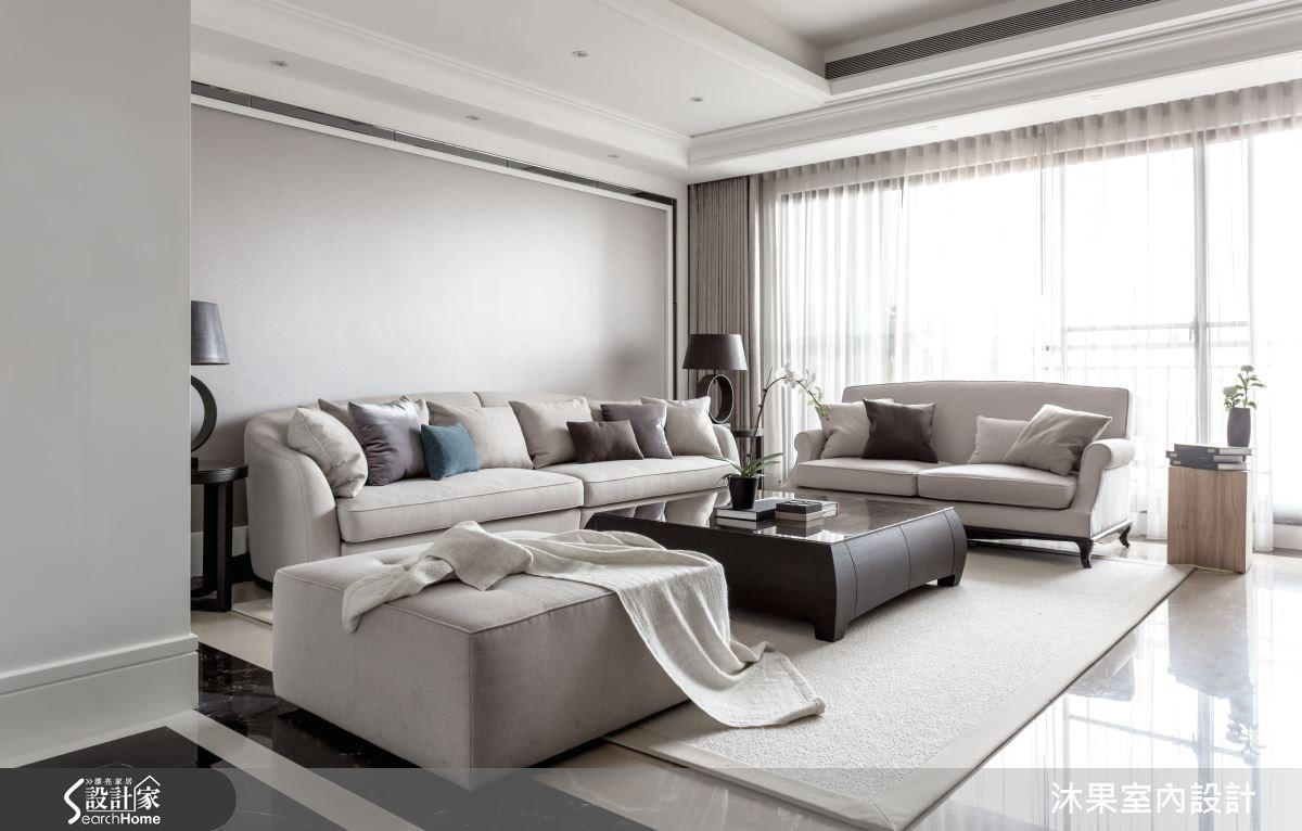 55坪新成屋(5年以下)_奢華風客廳案例圖片_沐果室內設計有限公司_沐果_10之1