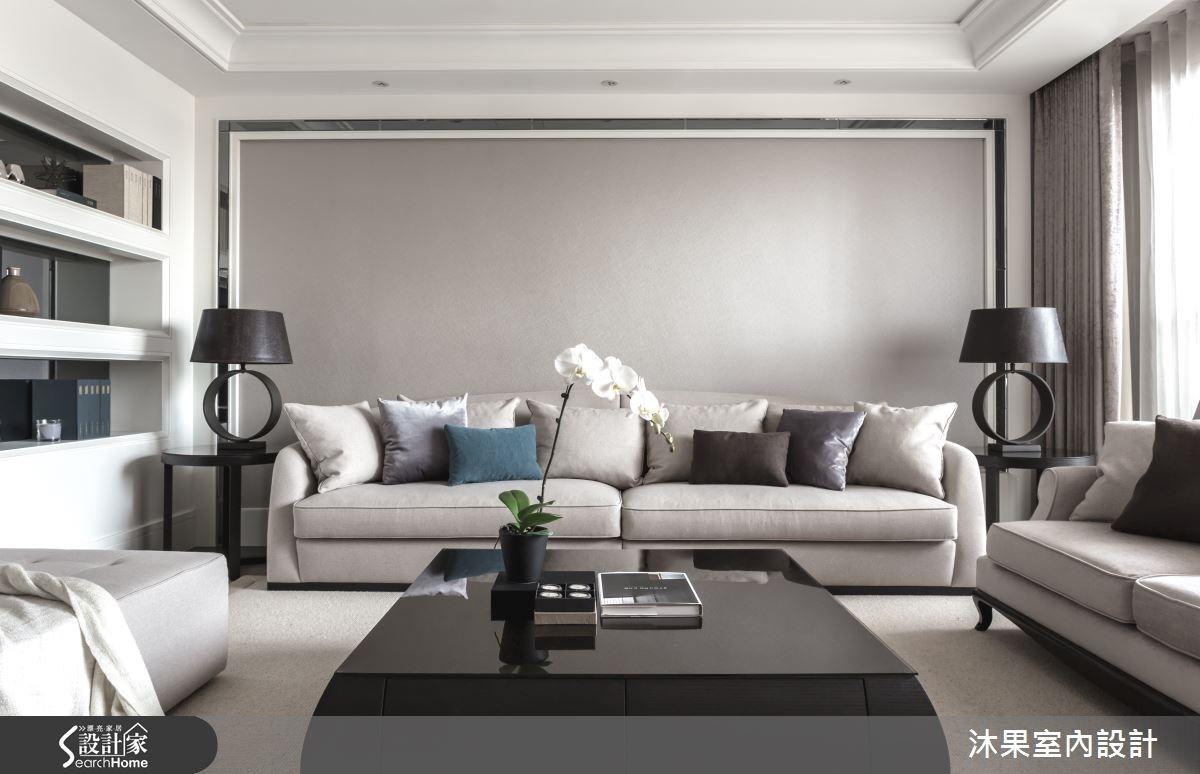 55坪新成屋(5年以下)_奢華風客廳案例圖片_沐果室內設計有限公司_沐果_10之3