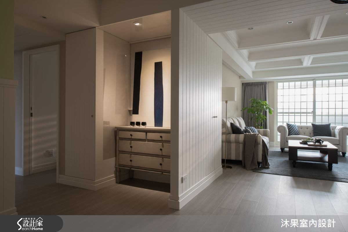 35坪老屋(16~30年)_美式風客廳走廊案例圖片_沐果室內設計有限公司_沐果_12之11