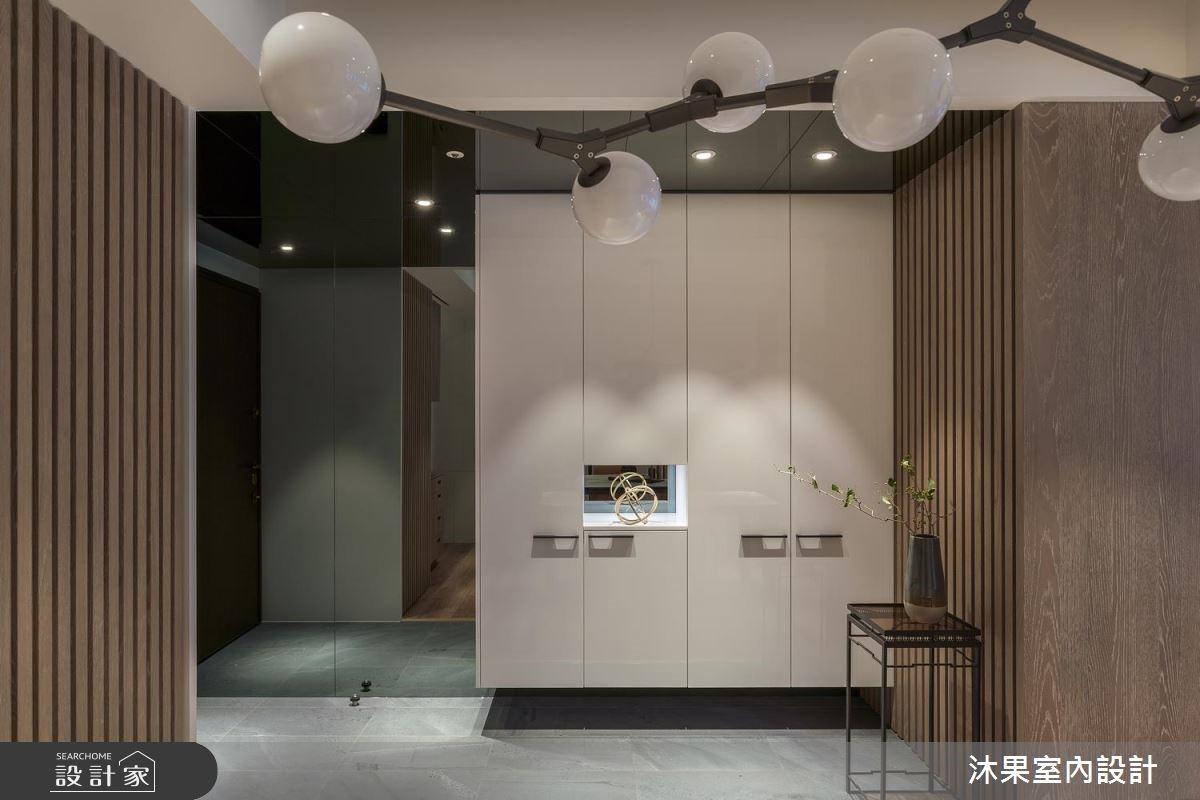 32坪新成屋(5年以下)_混搭風玄關案例圖片_沐果室內設計有限公司_沐果_20之2