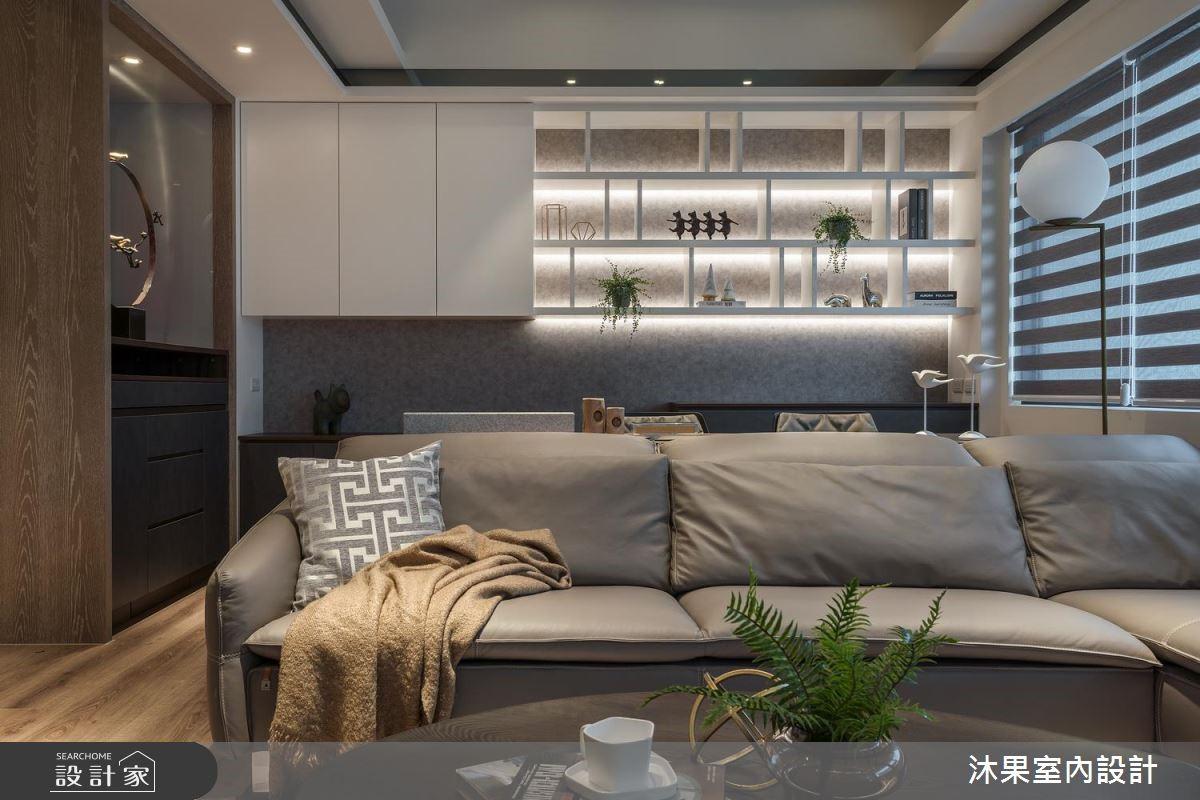 32坪新成屋(5年以下)_混搭風客廳案例圖片_沐果室內設計有限公司_沐果_20之3