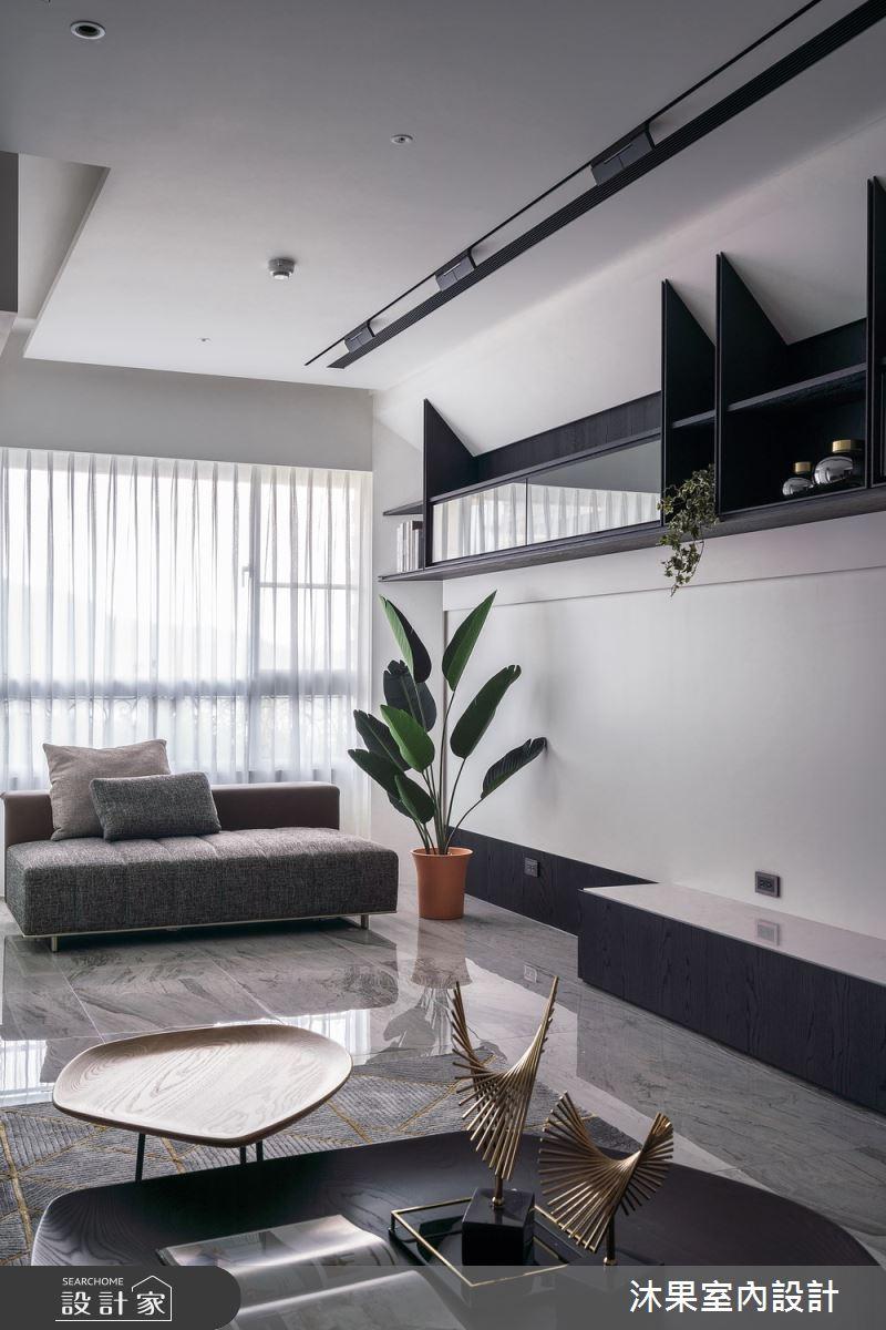 55坪新成屋(5年以下)_現代風客廳案例圖片_沐果室內設計有限公司_沐果_23之3