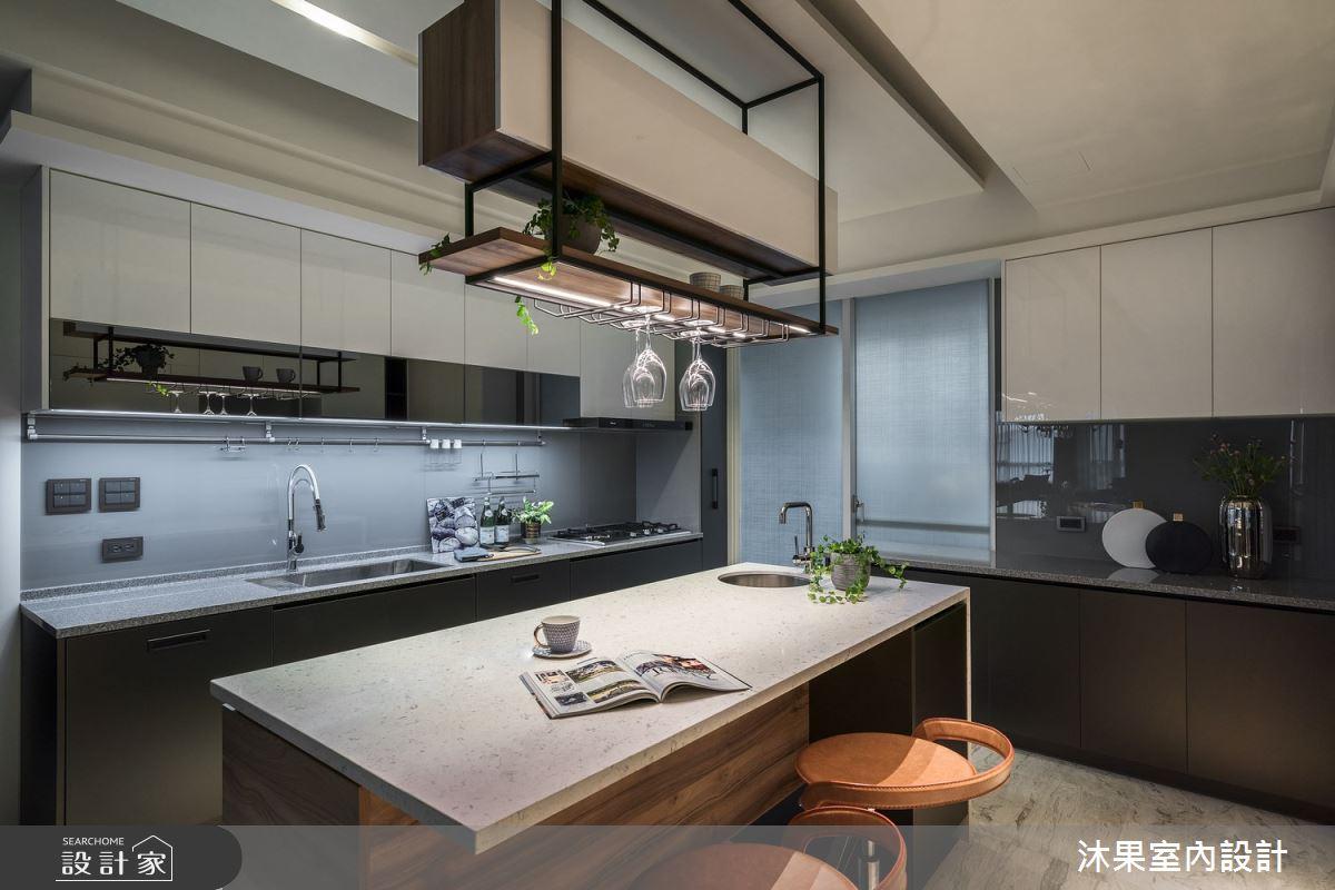55坪新成屋(5年以下)_現代風廚房吧檯案例圖片_沐果室內設計有限公司_沐果_23之12