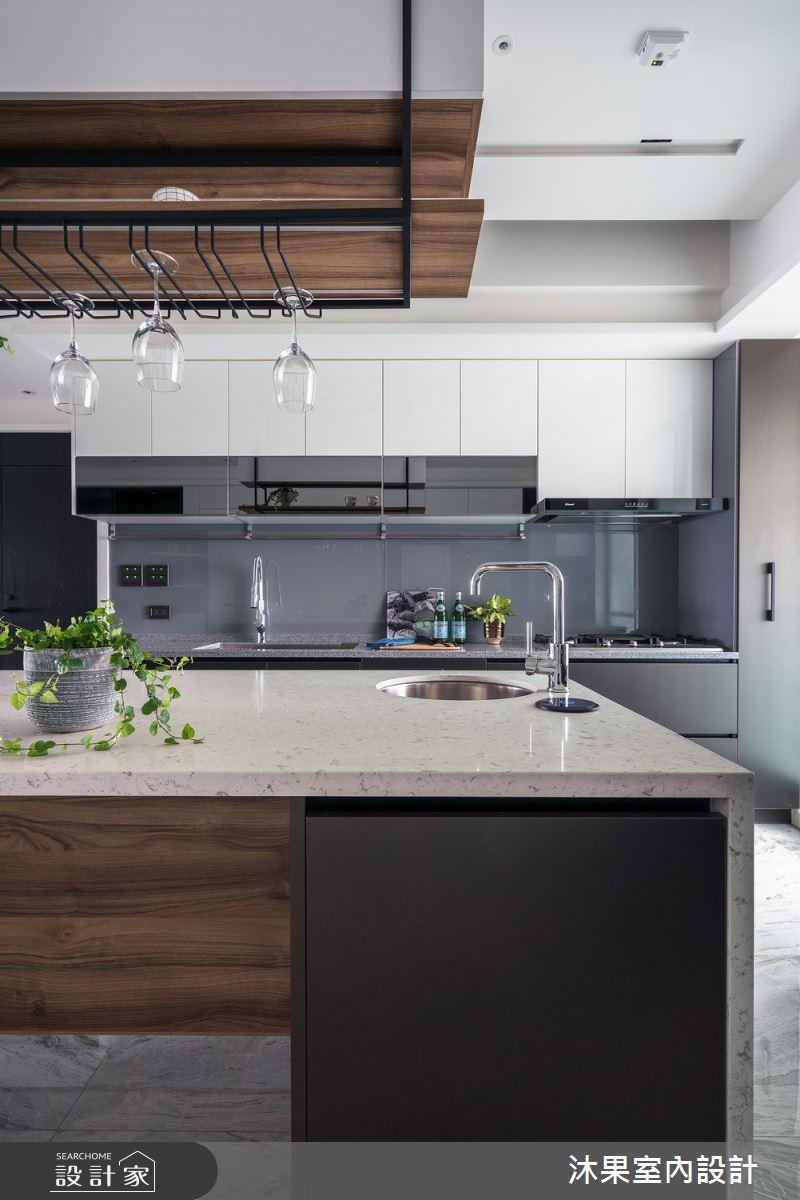 55坪新成屋(5年以下)_現代風廚房吧檯案例圖片_沐果室內設計有限公司_沐果_23之11