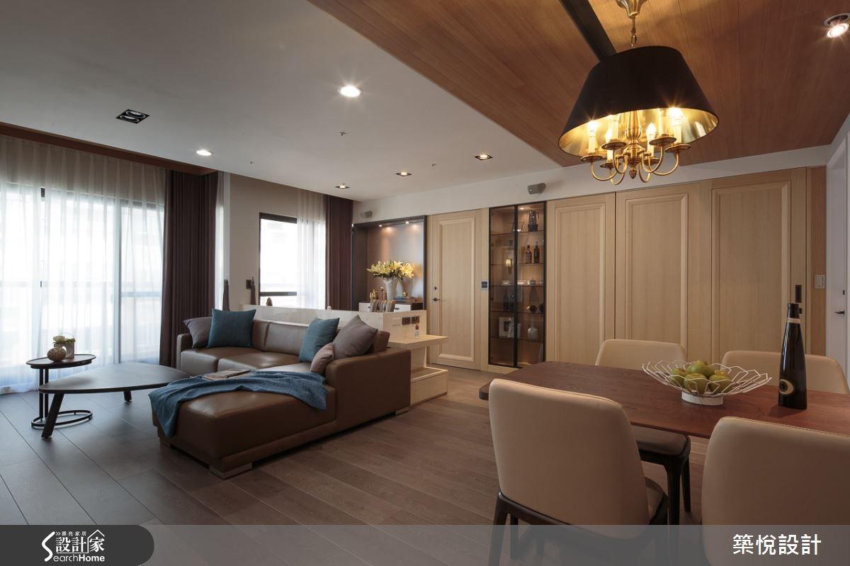 30坪新成屋(5年以下)_混搭風客廳餐廳案例圖片_築悅空間設計_築悅_01之2