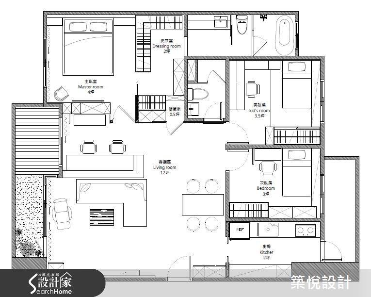 30坪新成屋(5年以下)_混搭風案例圖片_築悅空間設計_築悅_01之35