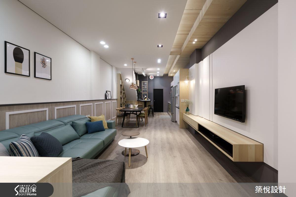 20坪中古屋(5~15年)_工業風客廳餐廳案例圖片_築悅空間設計_築悅_04之2