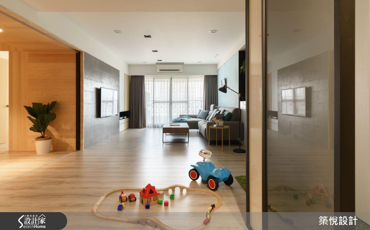 45坪中古屋(5~15年)_北歐風客廳案例圖片_築悅空間設計_築悅_05之1