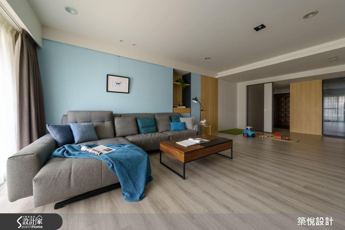 45坪中古屋(5~15年)_北歐風客廳案例圖片_築悅空間設計_築悅_05之4