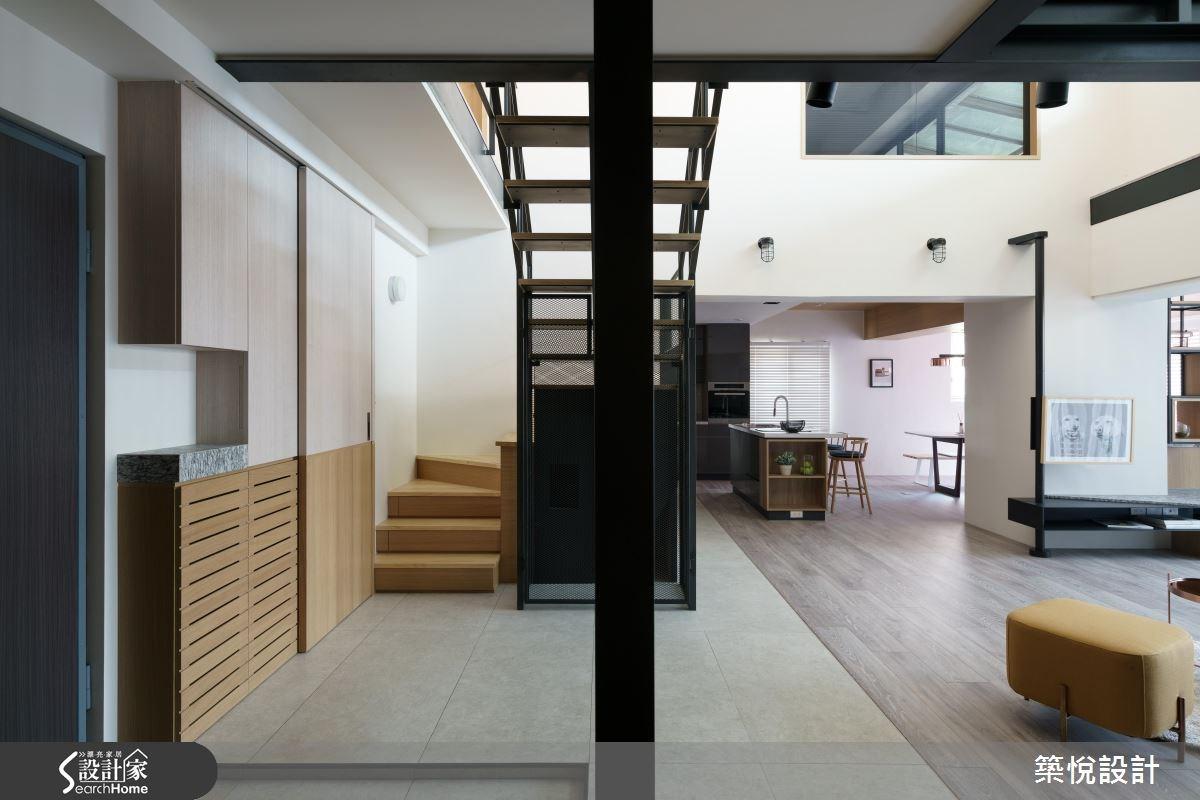 50坪老屋(16~30年)_工業風樓梯案例圖片_築悅空間設計_築悅_06之1