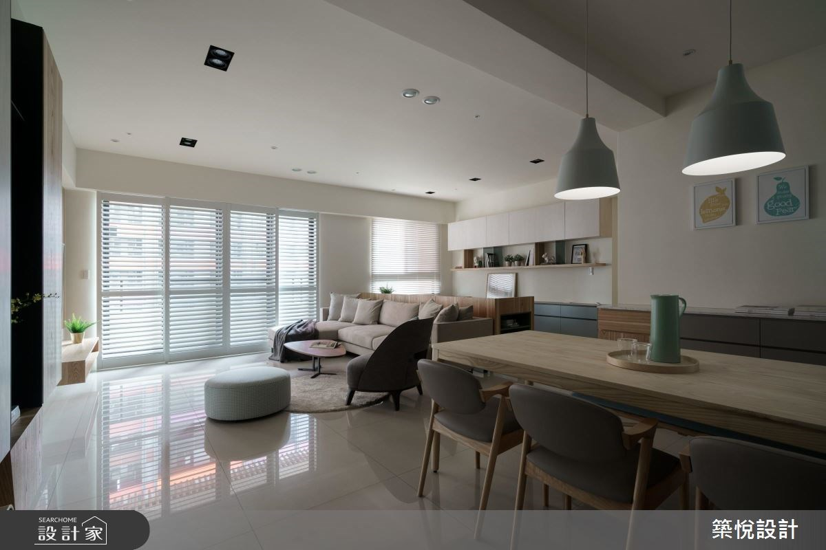 40坪新成屋(5年以下)_北歐風客廳餐廳案例圖片_築悅空間設計_築悅_07之2