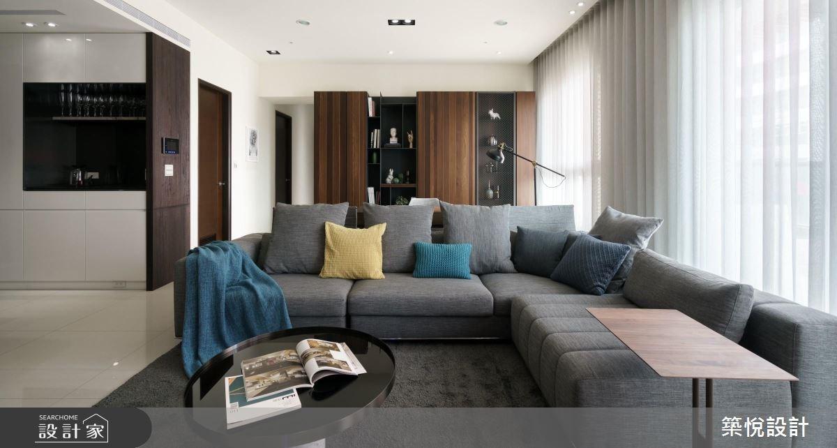 38坪新成屋(5年以下)_現代風客廳案例圖片_築悅空間設計_築悅_08之4