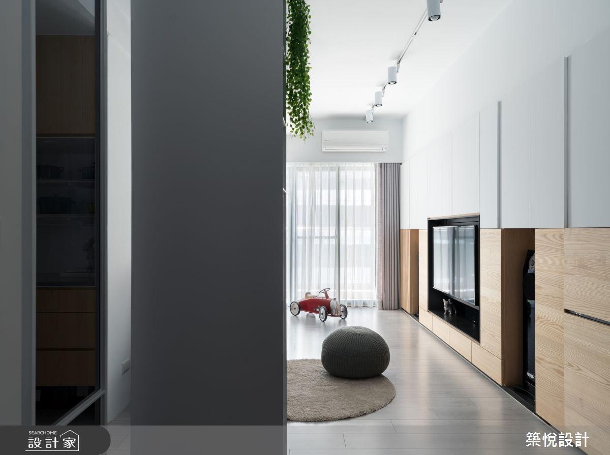 22坪新成屋(5年以下)_北歐風客廳案例圖片_築悅空間設計_築悅_09之1