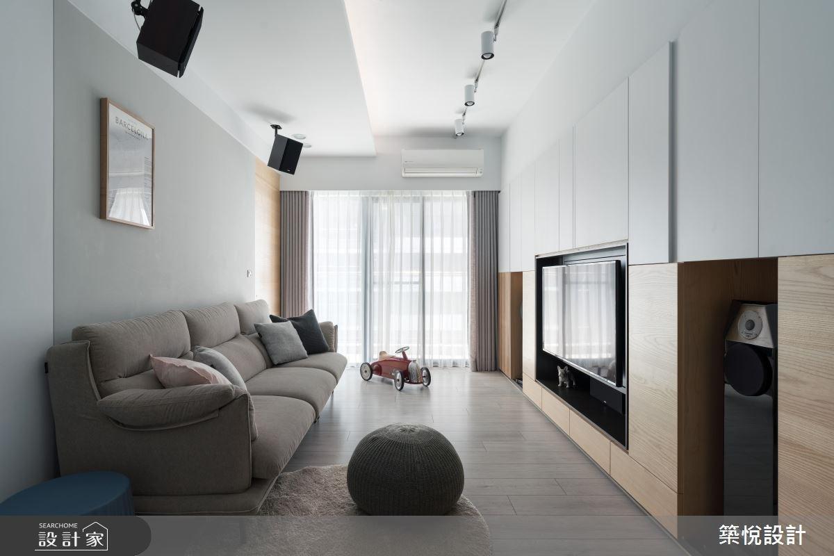 22坪新成屋(5年以下)_北歐風客廳案例圖片_築悅空間設計_築悅_09之3