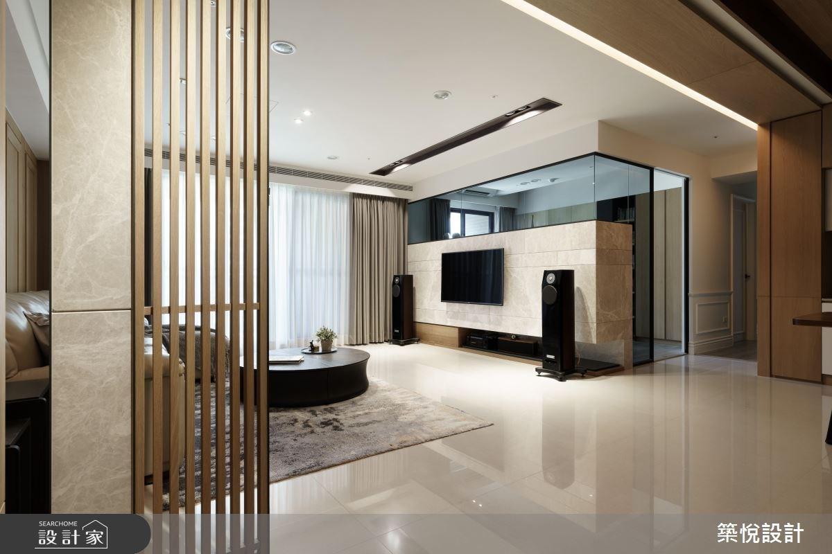40坪新成屋(5年以下)_混搭風客廳案例圖片_築悅空間設計_築悅_10之5