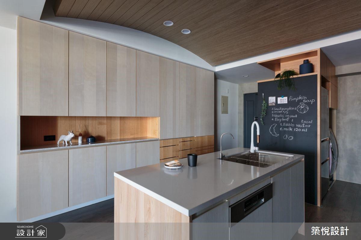 35坪老屋(16~30年)_工業風玄關廚房吧檯案例圖片_築悅空間設計_築悅_12之1