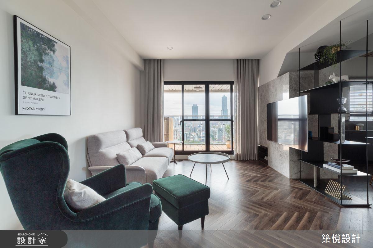 28坪預售屋_現代風客廳案例圖片_築悅空間設計_築悅_13之1