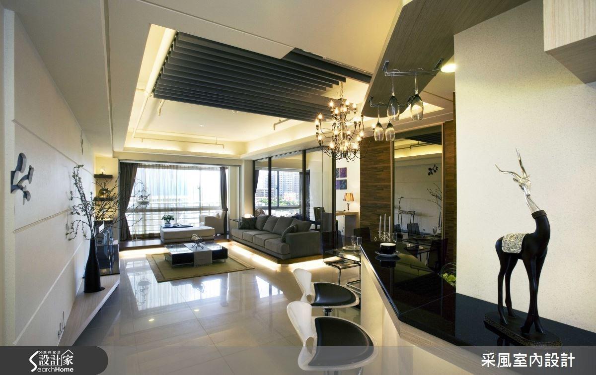 30坪新成屋(5年以下)_現代風客廳吧檯案例圖片_采風室內設計_采風_01之1