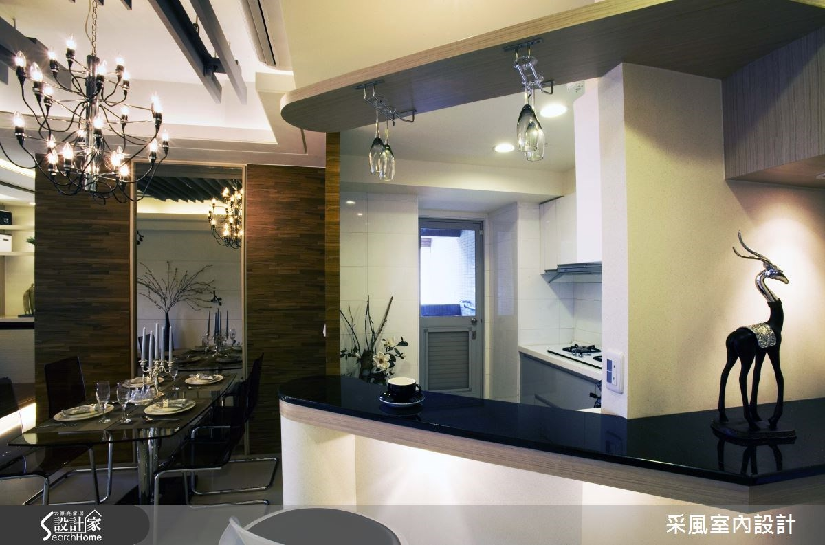 30坪新成屋(5年以下)_現代風餐廳廚房吧檯案例圖片_采風室內設計_采風_01之5