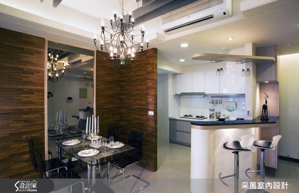 30坪新成屋(5年以下)_現代風餐廳廚房吧檯案例圖片_采風室內設計_采風_01之6