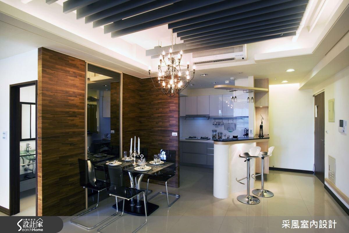 30坪新成屋(5年以下)_現代風餐廳廚房吧檯案例圖片_采風室內設計_采風_01之7