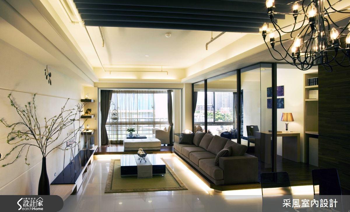 30坪新成屋(5年以下)_現代風客廳書房案例圖片_采風室內設計_采風_01之9