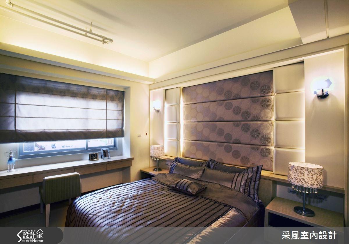 30坪新成屋(5年以下)_現代風臥室案例圖片_采風室內設計_采風_01之16