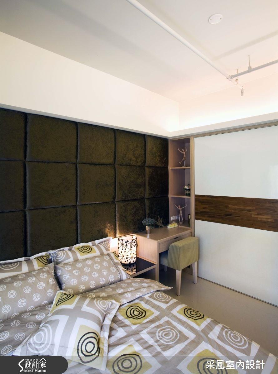 30坪新成屋(5年以下)_現代風臥室案例圖片_采風室內設計_采風_01之19