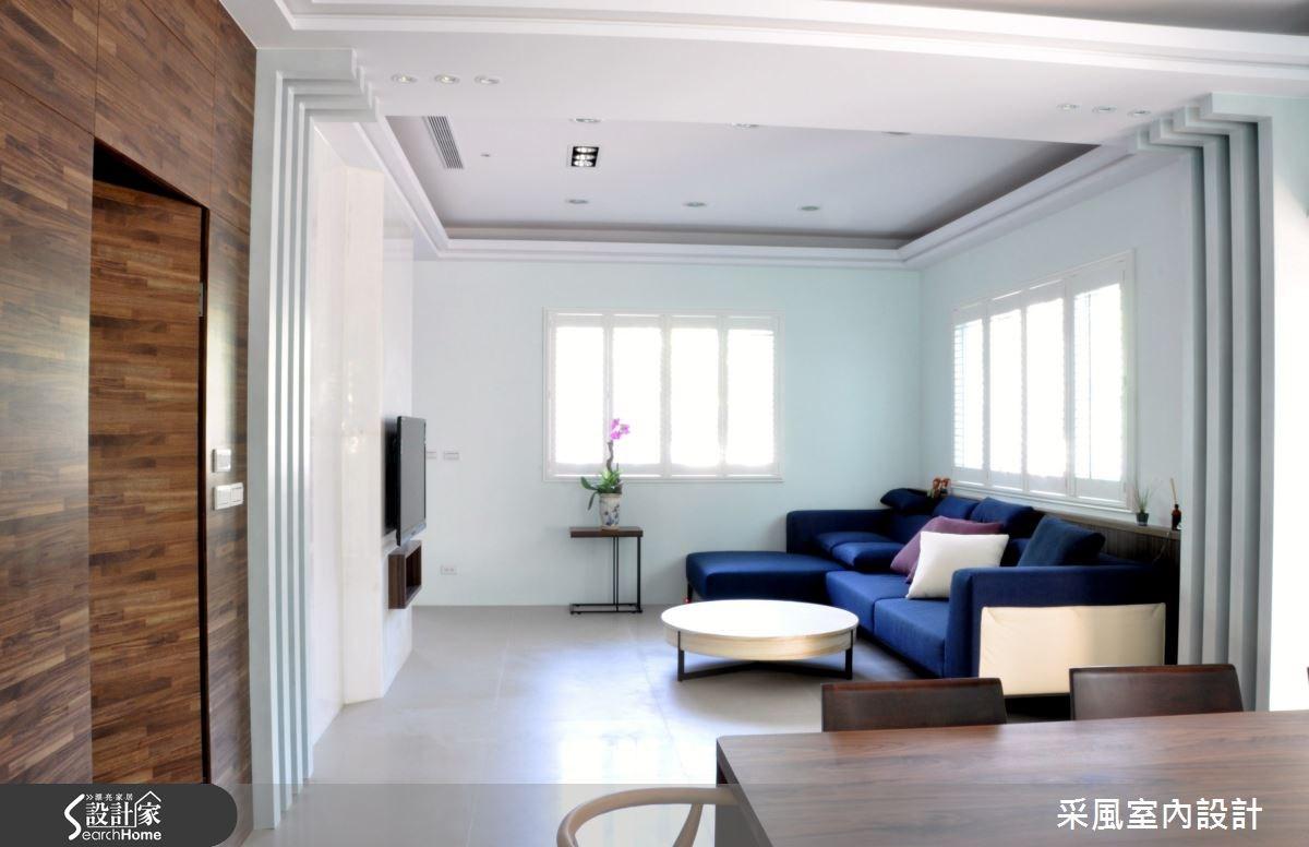 52坪新成屋(5年以下)_休閒風客廳餐廳案例圖片_采風室內設計_采風_05之2