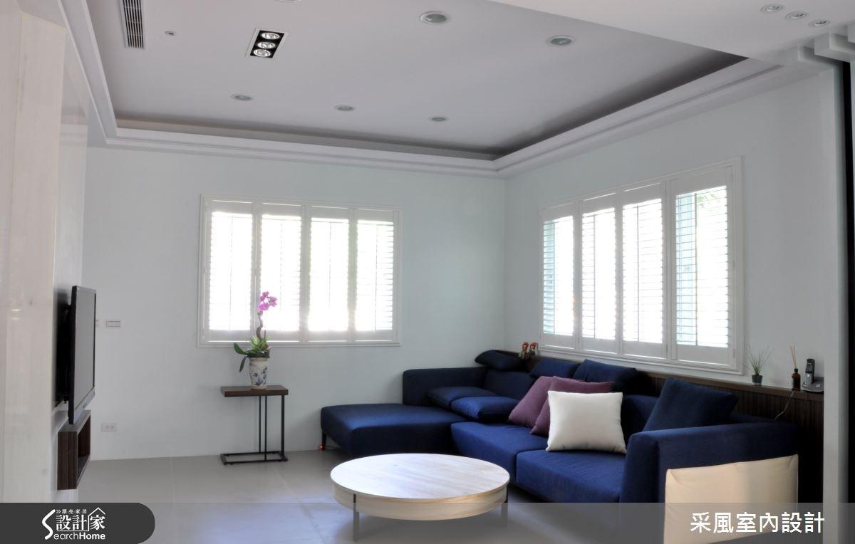 52坪新成屋(5年以下)_休閒風客廳案例圖片_采風室內設計_采風_05之3