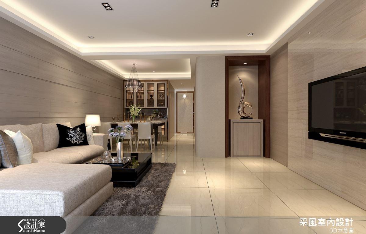 83坪新成屋(5年以下)_現代風客廳案例圖片_采風室內設計_采風_06之2