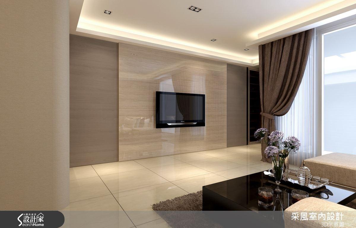 83坪新成屋(5年以下)_現代風客廳案例圖片_采風室內設計_采風_06之3