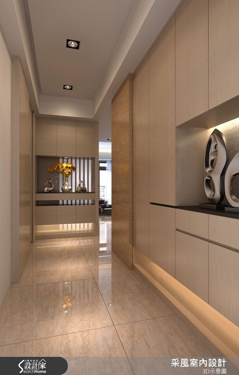 83坪新成屋(5年以下)_現代風玄關走廊案例圖片_采風室內設計_采風_06之5