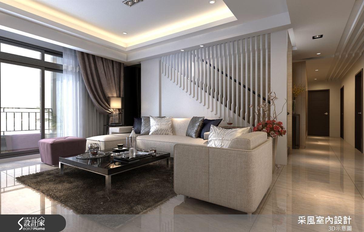 83坪新成屋(5年以下)_現代風客廳案例圖片_采風室內設計_采風_06之7