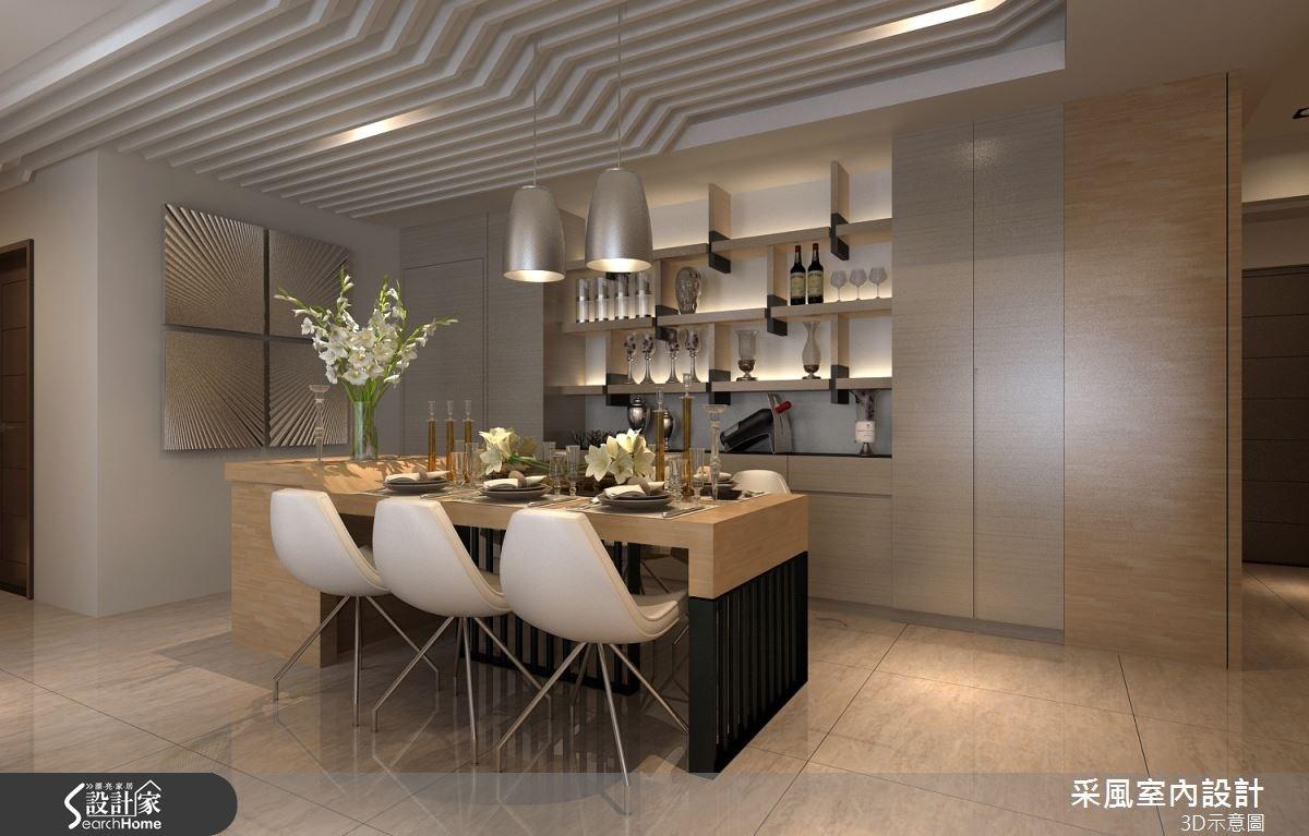 83坪新成屋(5年以下)_現代風餐廳案例圖片_采風室內設計_采風_06之8