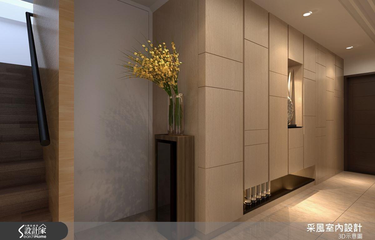 83坪新成屋(5年以下)_現代風玄關案例圖片_采風室內設計_采風_06之9