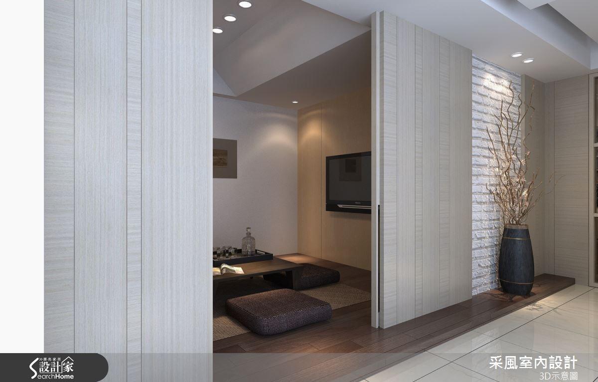 83坪新成屋(5年以下)_現代風和室走廊案例圖片_采風室內設計_采風_06之10