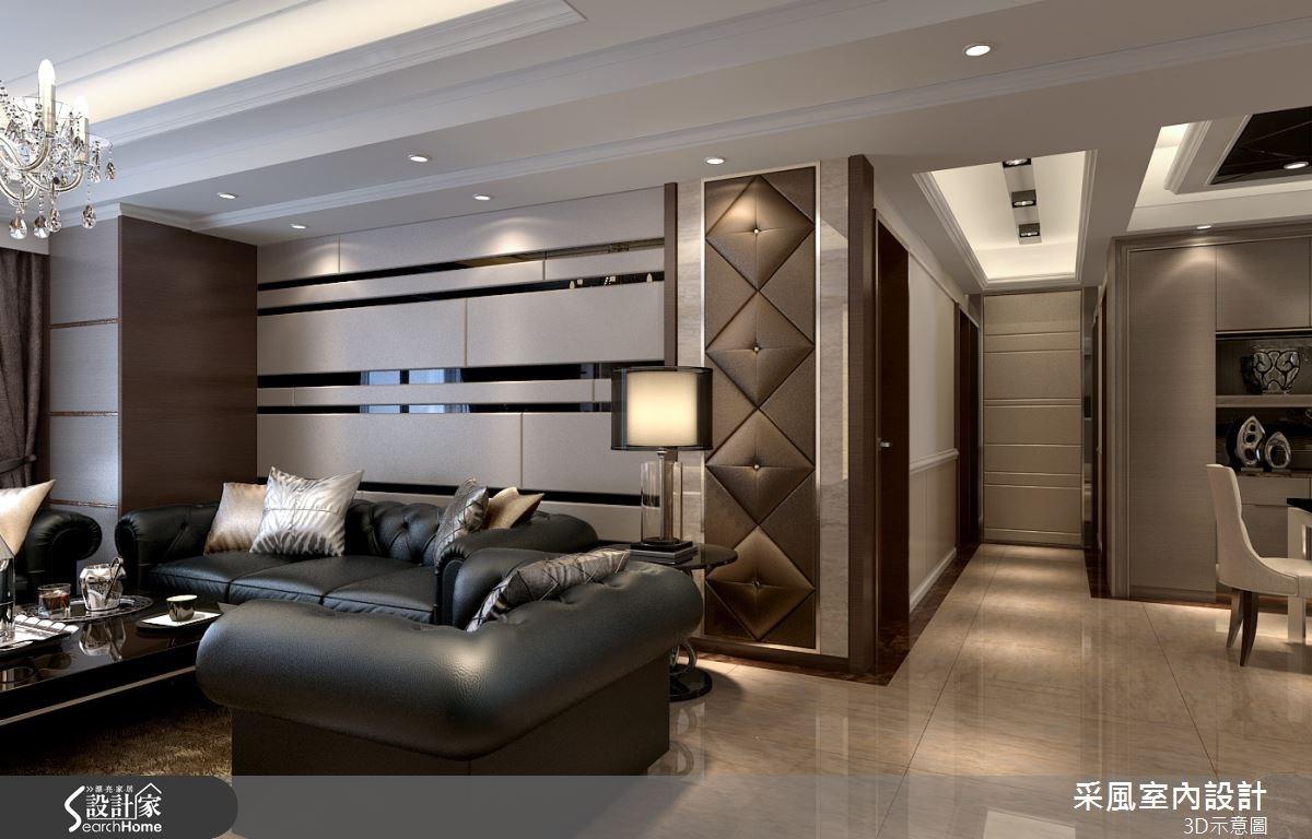 83坪新成屋(5年以下)_現代風客廳走廊案例圖片_采風室內設計_采風_06之11