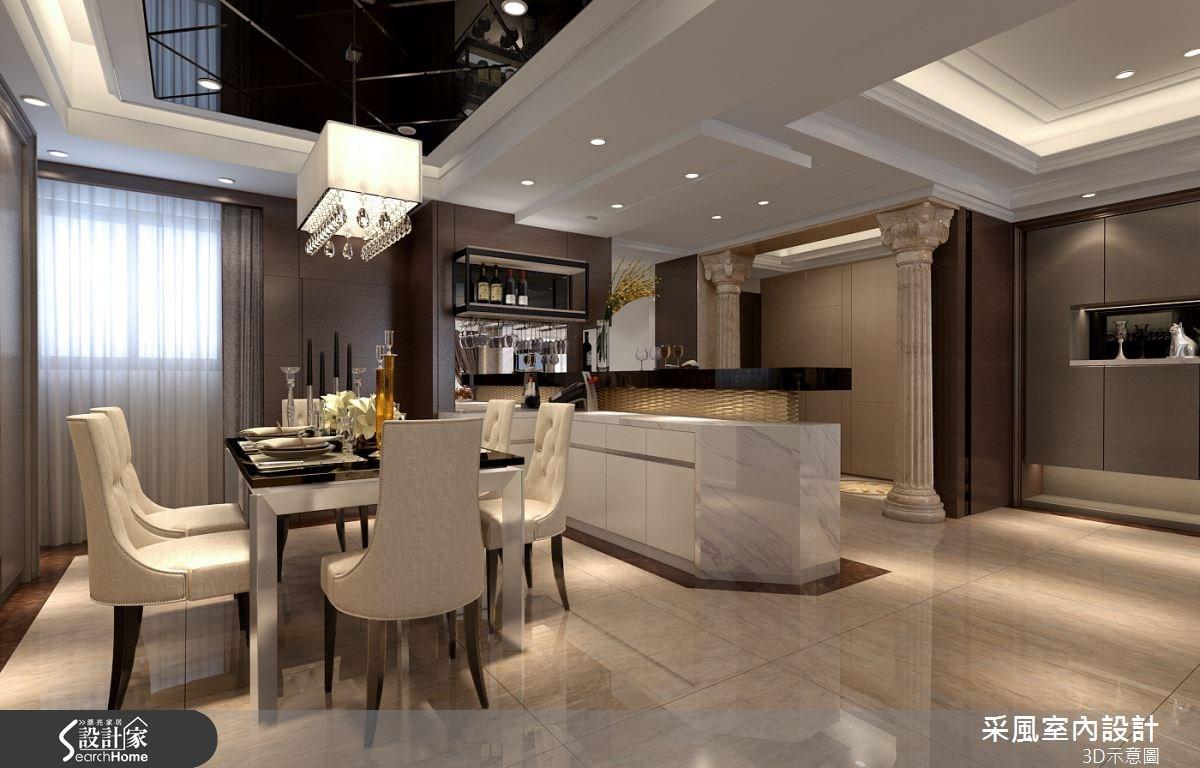 83坪新成屋(5年以下)_現代風餐廳吧檯案例圖片_采風室內設計_采風_06之13