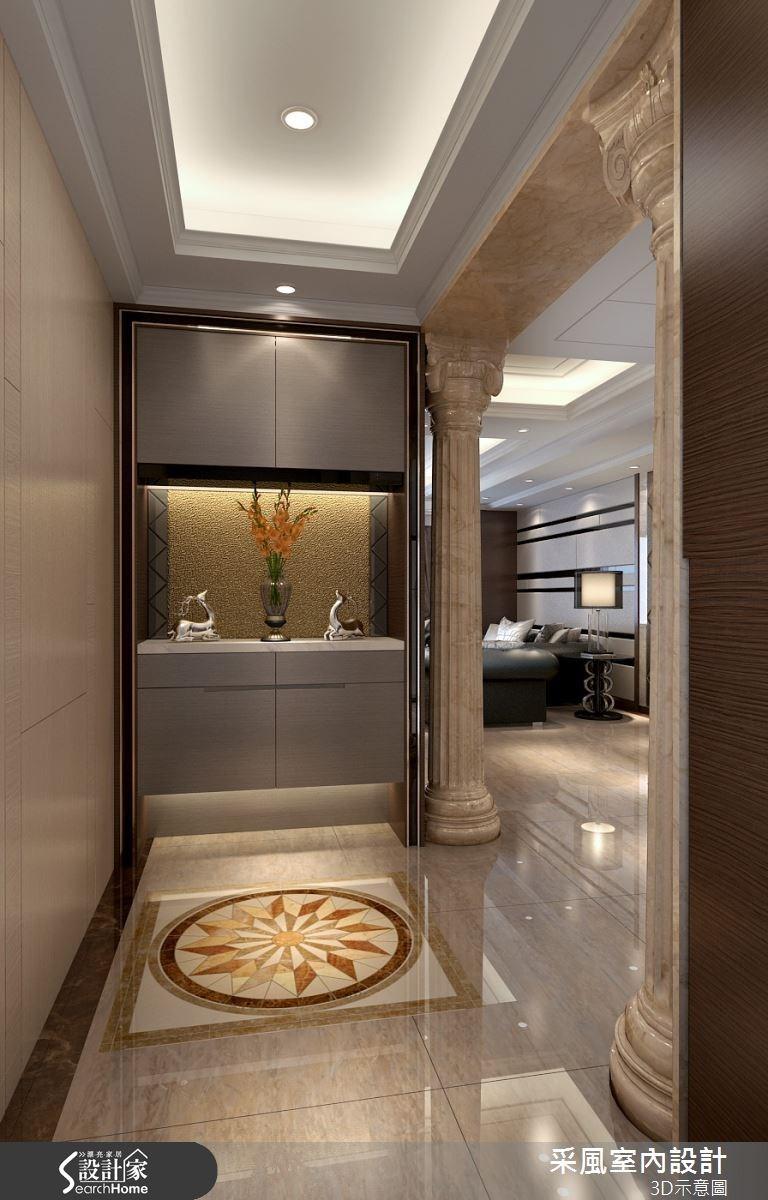 83坪新成屋(5年以下)_現代風玄關案例圖片_采風室內設計_采風_06之14