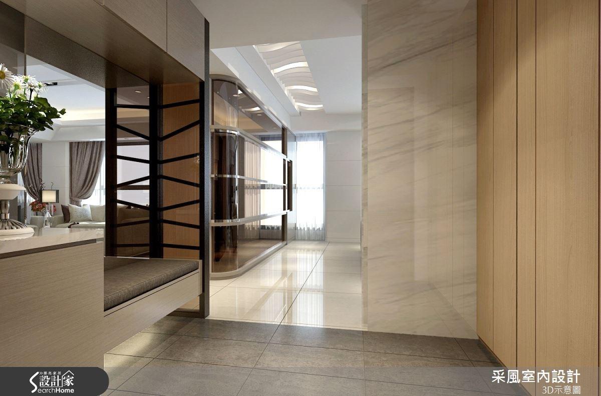 83坪新成屋(5年以下)_現代風走廊案例圖片_采風室內設計_采風_06之15