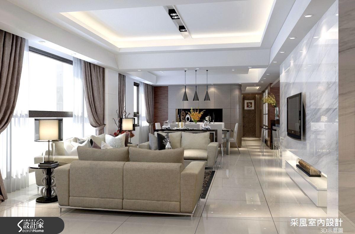 83坪新成屋(5年以下)_現代風客廳餐廳案例圖片_采風室內設計_采風_06之16