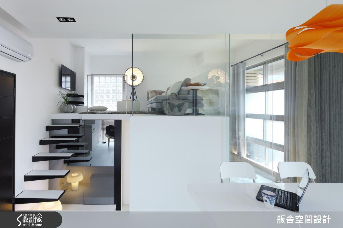 13坪新成屋(5年以下)_現代風客廳樓梯案例圖片_舨舍空間設計有限公司_舨舍_14之2