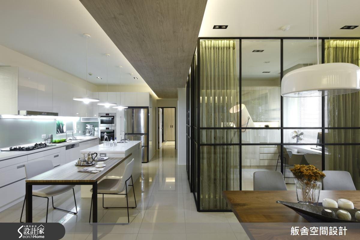 35坪新成屋(5年以下)_混搭風餐廳吧檯走廊案例圖片_舨舍空間設計有限公司_舨舍_16之1